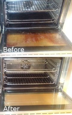 Before After Oven Cleaning